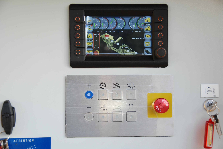 Keestrack B5 Giove mobiele kaakbreker op rupsen - display