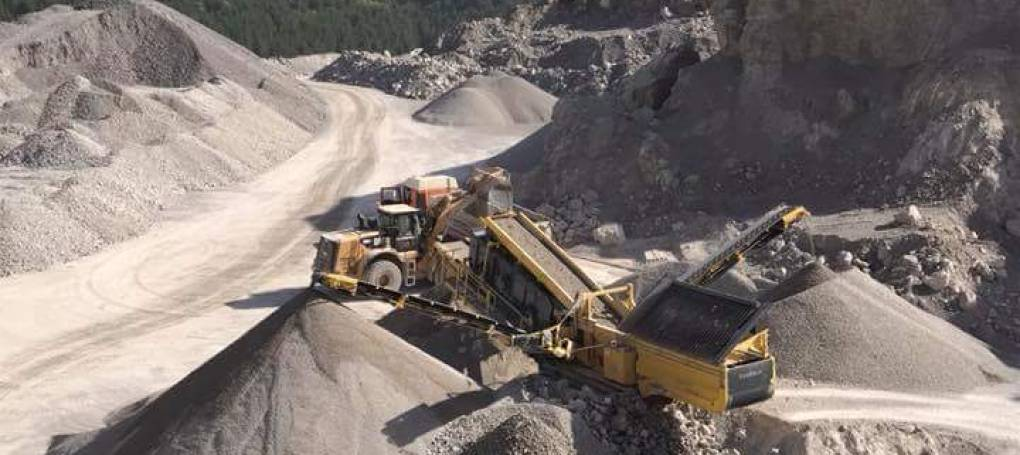 Keestrack C6 classifier in quarry application