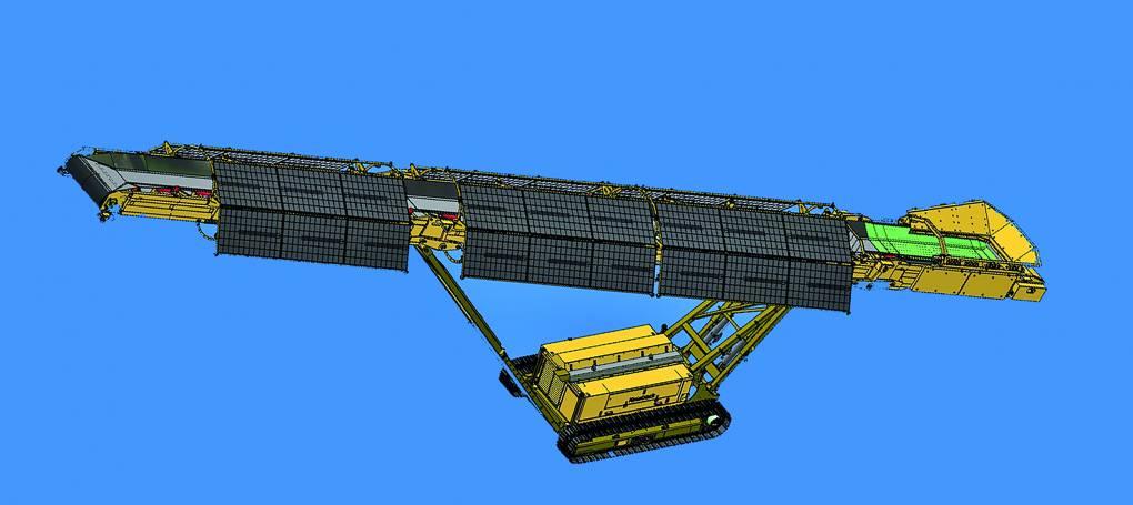 Keestrack S5 transportband op rupsen, batterij aangedreven en op zonne-energie