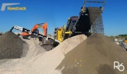 Hybrid R6 impact crusher in recycling at Gerday-Belgium