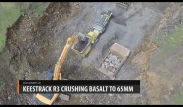 Keestrack B3 impact crusher - crushing basalt to 65mm -  Equip2 - New Zealand